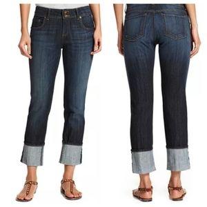 Kut fron the Kloth Cuffed Straight Leg Jeans 26